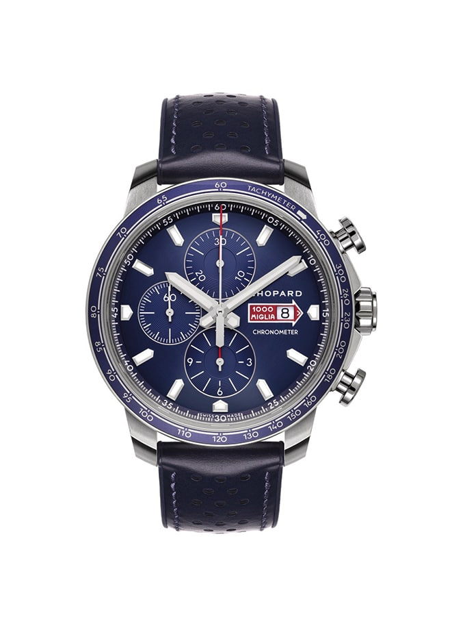 RELLOTGE CHOPARD - MILLE MIGLIA GTS CHRONO - 44 MM, AUTOMÀTIC, ACER INOXIDABLE (Blau)
