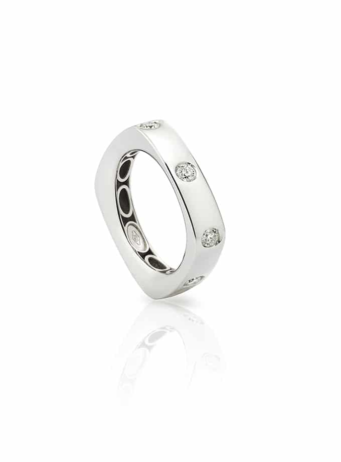 WHITE GOLD AND DIAMOND TELEVISION RING-001
