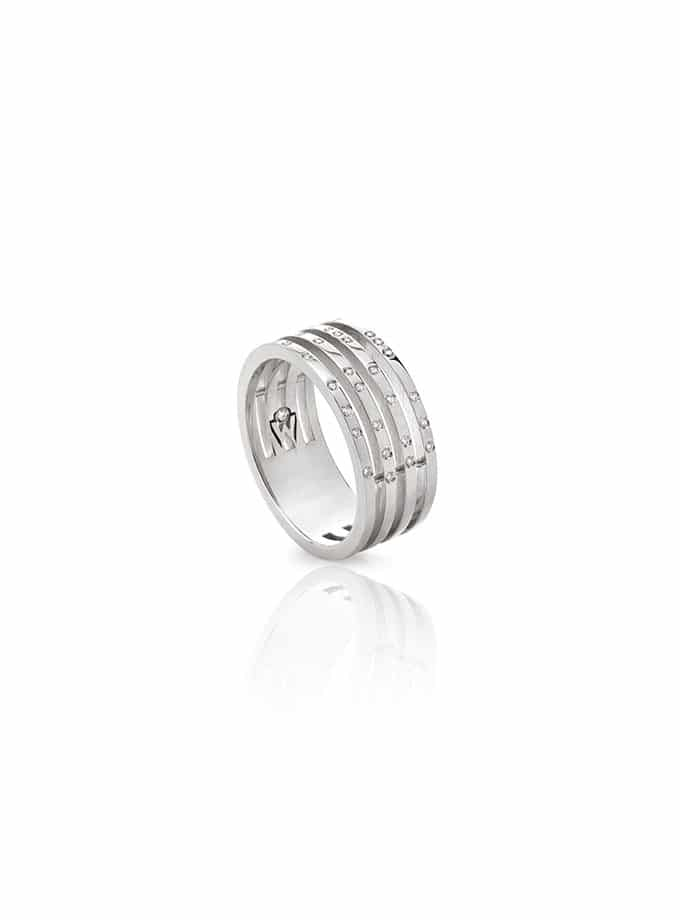 W-LINES RING WHITE GOLD AND DIAMONDS-001