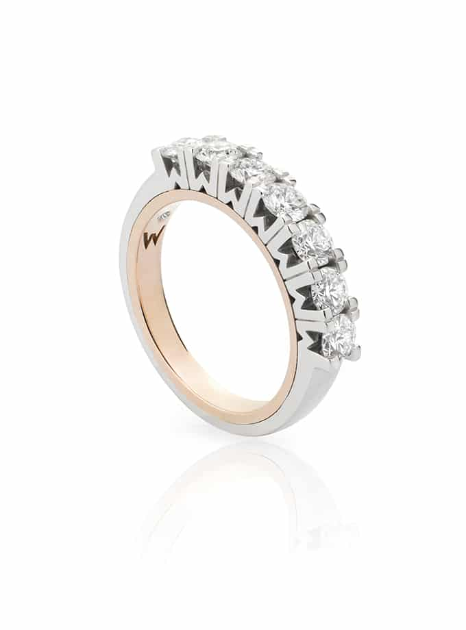 WESSELTON RING - WHITE AND PINK GOLD WITH DIAMONDS-001