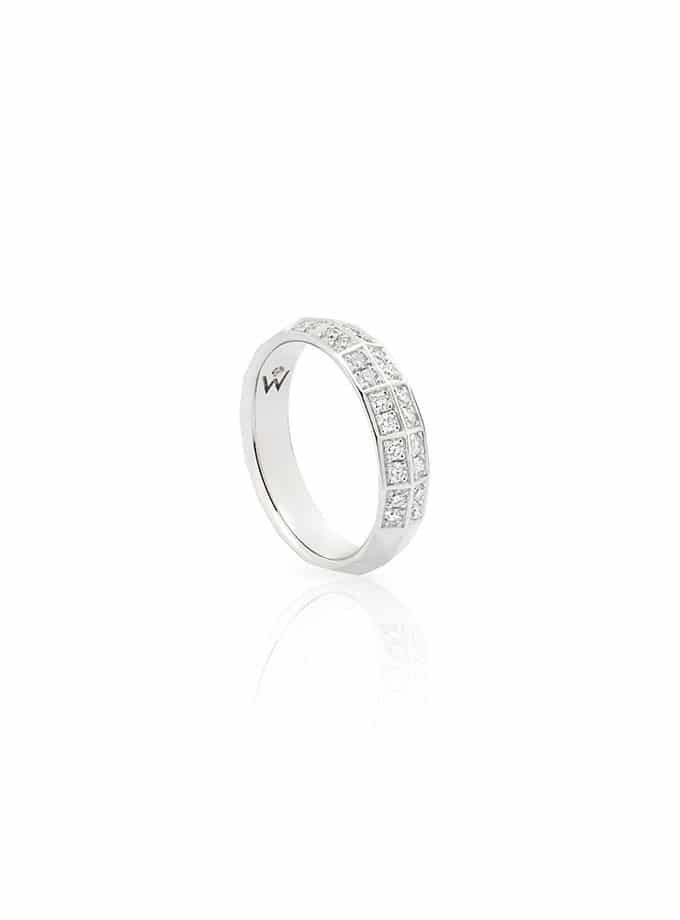 ANELL W-FACETT OR BLANC I DIAMANTS-001