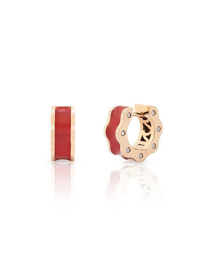 WESSELTON EARRINGS - BRAWA - ROSE GOLD AND DIAMONDS-001