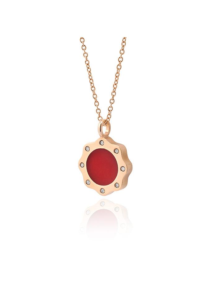 WESSELTON PENDANT - BRAWA - ROSE GOLD AND DIAMONDS-001