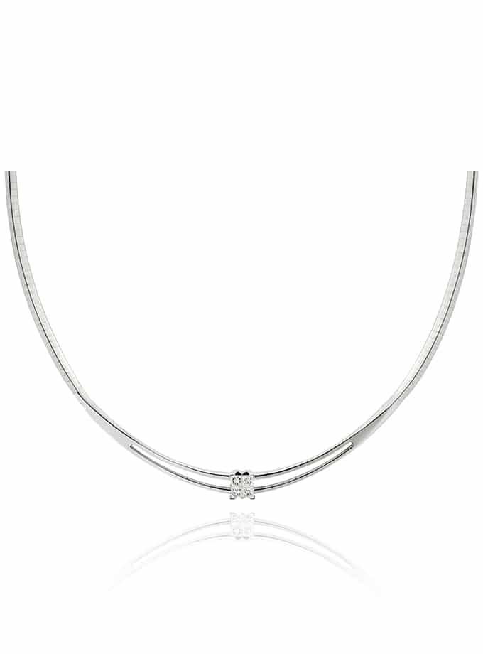 WESSELTON NECKLACE W-4YOU COLLECTION IN WHITE GOLD AND DIAMOND-001