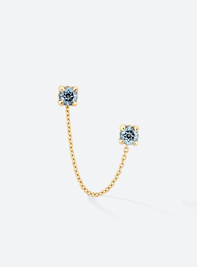 ARRACADES GOLD&ROSES - DOUBLE ROCK CHAIN