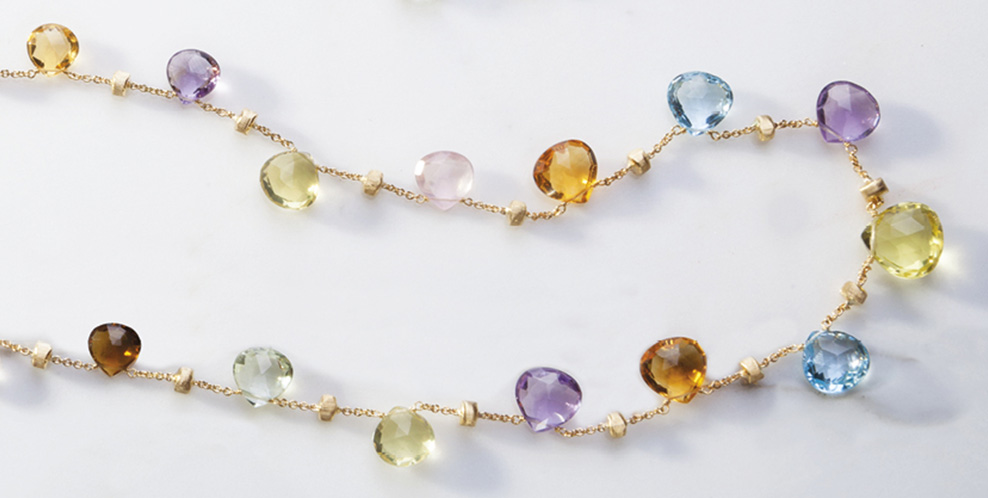 Marco Wesselton 0000 HEADER PARADISE NECKLACE GOLD YELLOW NATURAL GEMSTONES