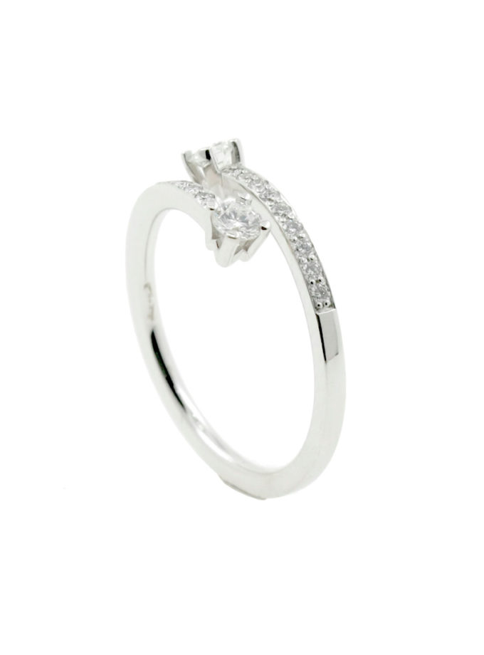 TWO-ARM W RING IN WHITE GOLD AND DIAMONDS-001