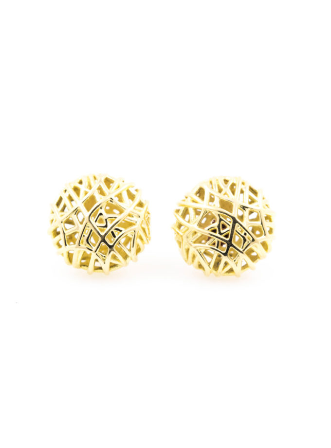 W-NEST YELLOW GOLD EARRINGS