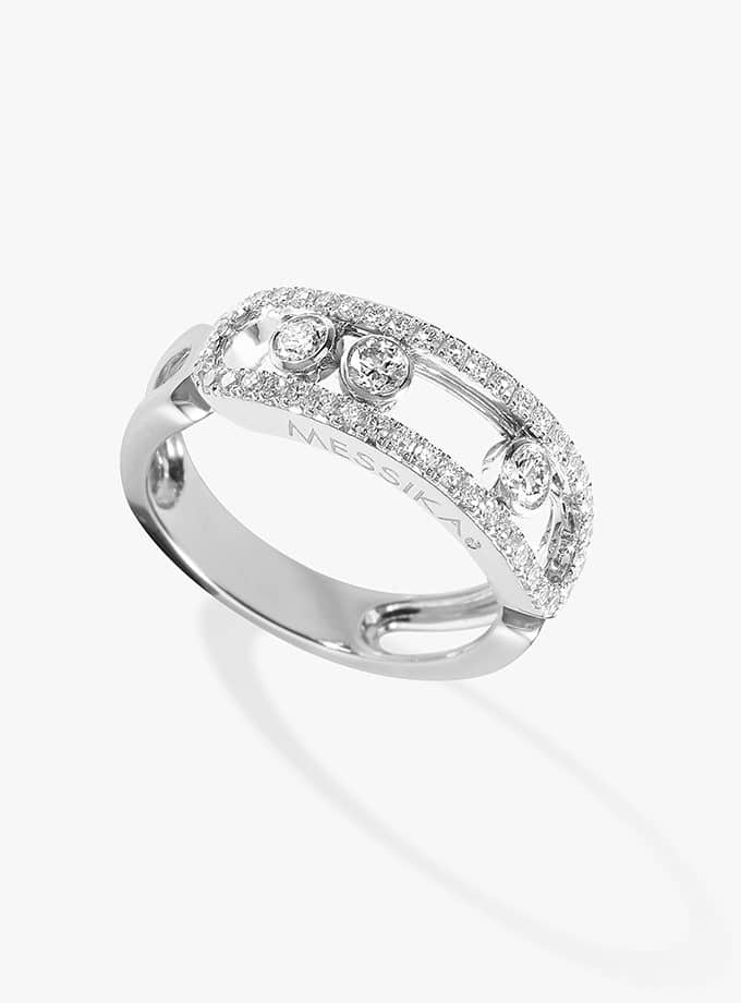 MESSIKA RING - MOVE CLASSIQUE - WHITE GOLD AND PAVÉ-001