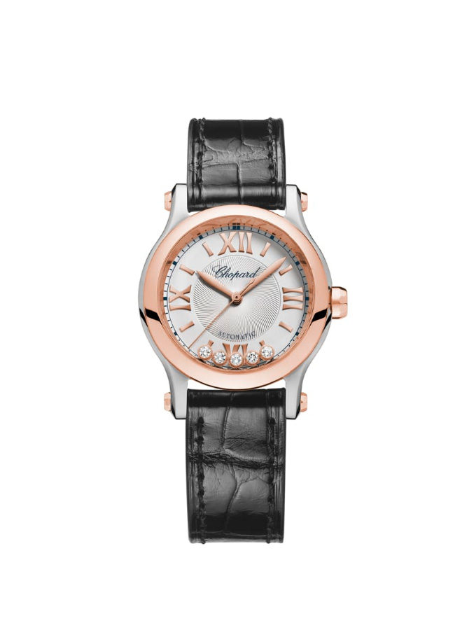 RELOJ CHOPARD - HAPPY SPORT - 30 MM, AUTOMÁTICO, ORO ROSA, ACERO INOXIDABLE, DIAMANTES