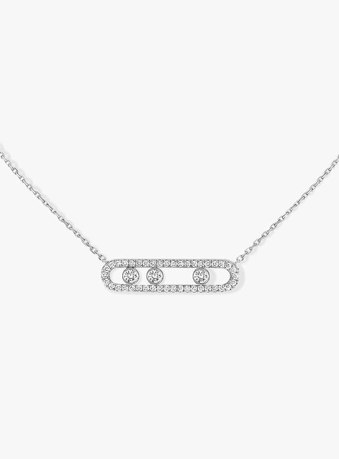 MESSIKA NECKLACE - MOVE PAVÉ - WHITE GOLD-001