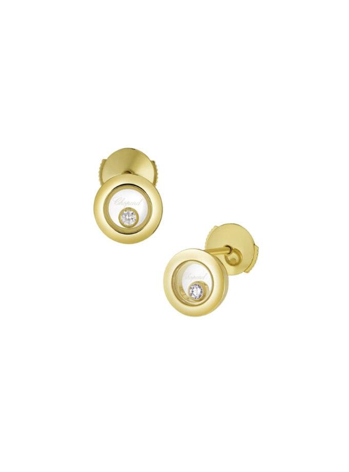 BOUCLES D'OREILLES CHOPARD - HAPPY DIAMONDS ICONS - OR JAUNE, DIAMANTS