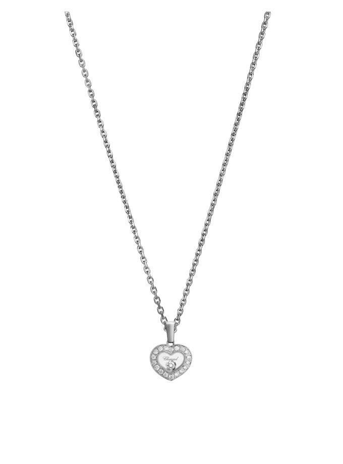 HAPPY DIAMONDS ICONS - COLLARET, OR BLANC, DIAMANTS