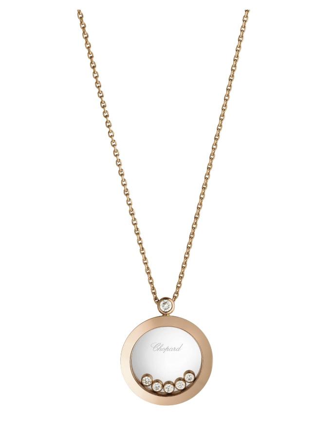 CHOPARD PENDANT - HAPPY DIAMONDS ICONS - ROSE GOLD, DIAMONDS-001