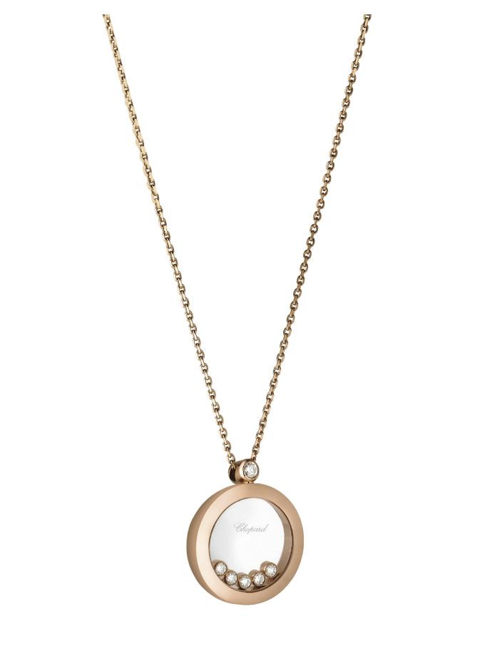 CHOPARD PENDANT - HAPPY DIAMONDS ICONS - ROSE GOLD, DIAMONDS-003