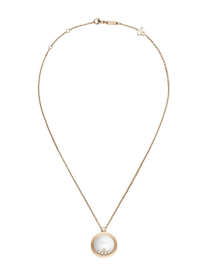CHOPARD PENDANT - HAPPY DIAMONDS ICONS - ROSE GOLD, DIAMONDS-004