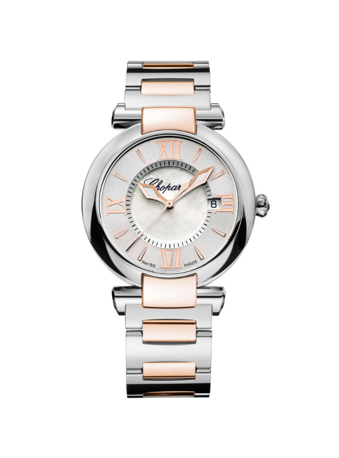 CHOPARD WATCH - IMPERIAL - 36 MM, QUARTZ, ROSE GOLD, STAINLESS STEEL-001