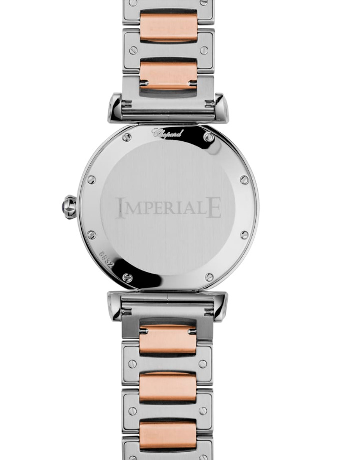 CHOPARD WATCH - IMPERIAL - 36 MM, QUARTZ, ROSE GOLD, STAINLESS STEEL-002