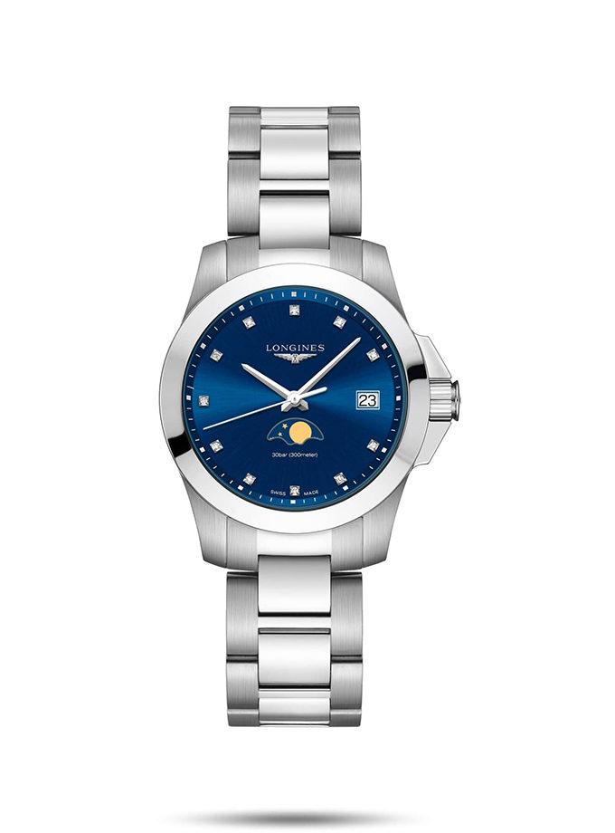 LONGINES CONQUEST - 34MM QUARTZ (Blue)-001