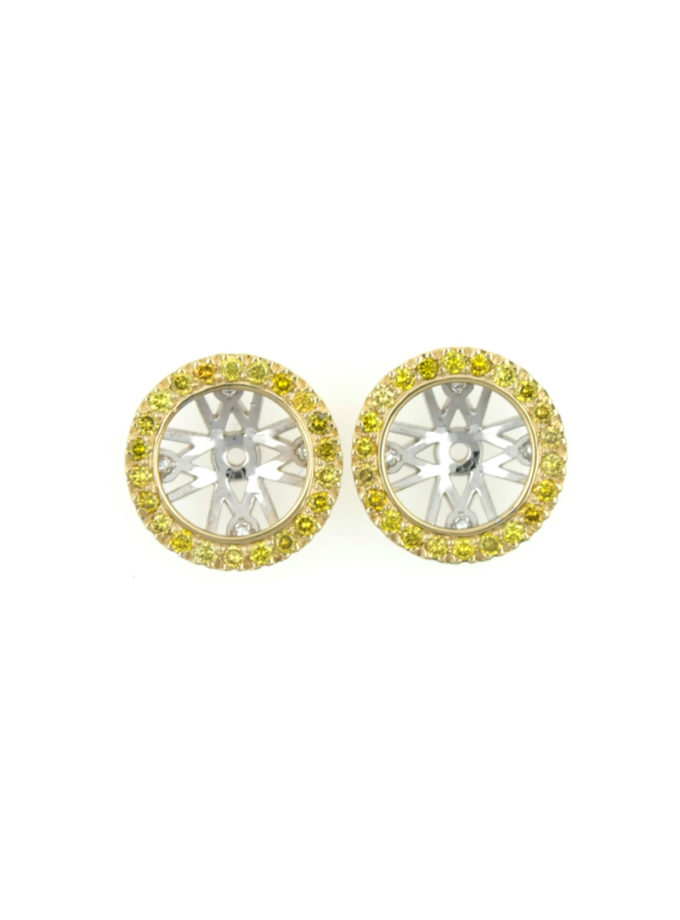 YELLOW AND WHITE GOLD W-ORBIT FRINGEWITH FANCY YELLOW DIAMONDS